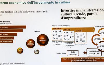 Investimenti in cultura. Positivi gli effetti economici e sociali