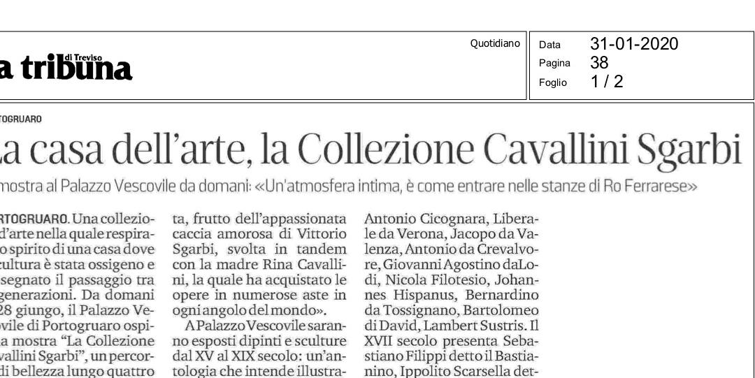 La Tribuna di Treviso del 31 gennaio 2020