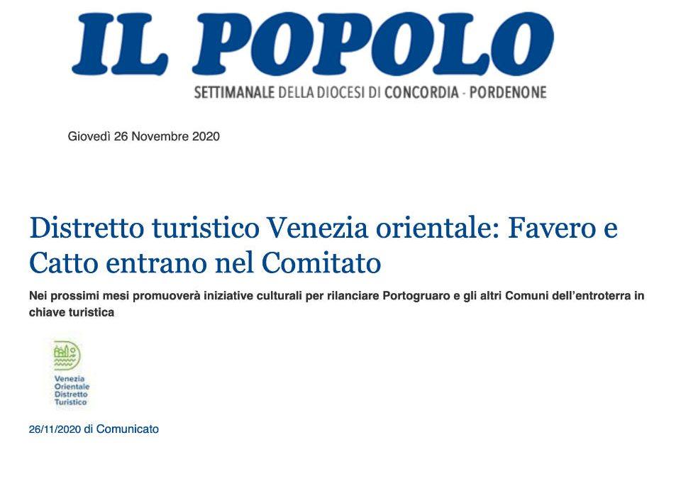 Distretto turistico Venezia orientale: Favero e Catto entrano nel Comitato
