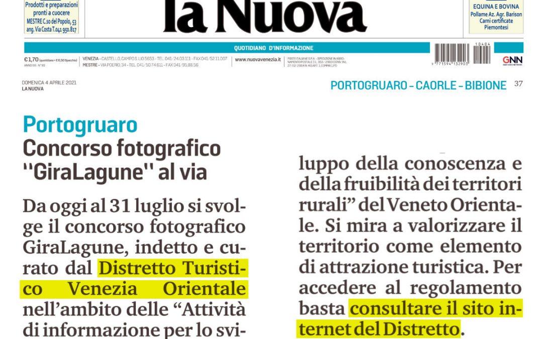 """Concorso Fotografico """"GiraLagune"""" al via – La Nuova Venezia 4 aprile 2021"""