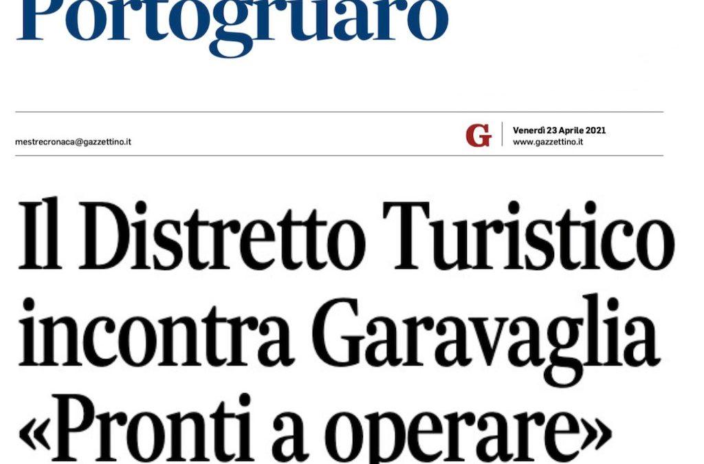 """Il Distretto Turistico incontra Garavaglia: """"Pronti a operare"""" – IL GAZZETTINO 23 APRILE 2021"""